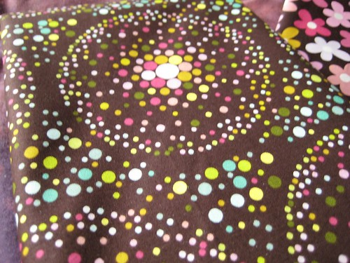 chocolate lollipop fabric