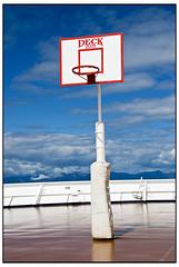 Basketball Jones (swanksalot) Tags: blue red cloud reflection amsterdam basketball alaska basket deck nba faved hollandamerica swanksalot sethanderson