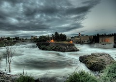 Raging Spokane Falls (Mista Yuck) Tags: longexposure wet water river waterfall spokane flood hdr sigma1020mm spokanefalls 4exp