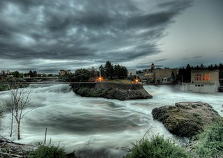 Raging Spokane Falls