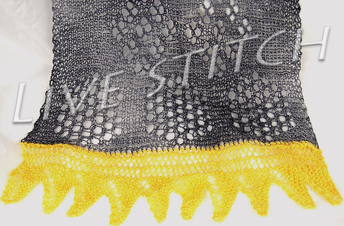 Honeycomb Shawl Detail