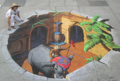 3D Street Painting - Indian Fantasy by Tracy Lee Stum