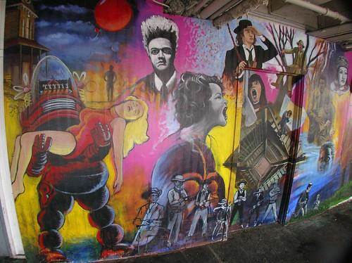 Stadium Video Mural, Robbie the Robot