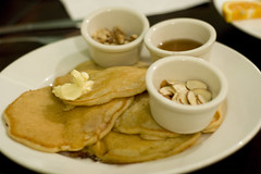 Plain Pancakes with almonds and walnuts