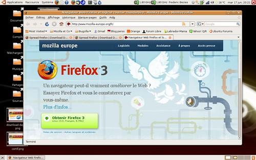 Mozilla Europe aux couleurs de firefox 3