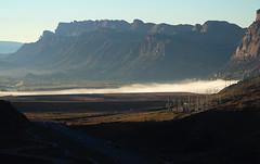 Colorado River hiding under fog (listorama) Tags: morning weather fog river utah sandstone arches coloradoriver uranium moab archesnationalpark tailings theportal potashroad moabrim us191 sr279 ut2006oct