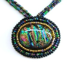 Beaded Dichroic Fused Glass Cabochon Necklace (Uneek Glass Fusions) Tags: color glass beads bead wearableart custom beaded fusing fuse artglass swede pendants fused glassart dichroic fusedglass seedbeads glassjewelry handmadejewelry dichroicglass warmglass cabochon beadedjewelry glassnecklaces customjewelry artglassjewelry cabachon jewelrydesigner dichroicpendants glasspendants colorfulnecklaces fusedglassjewelry dichroicfusedglass jewelrydesigners glasscabochon jewelrydesigns glasscabachon dichroicjewelry glassartists fusedglassnecklace cgge dichroicglassjewelry uneekglassfusions dichroicglasspendants dichroicglassnecklace fusedglasspendants dichroicglassjewellery dichroicglassnecklaces fuseddichroicglass artglasspendants customjewelrydesigns artglassnecklace uneekglass artglasscabochon beadedcabochon fusedpendants jewelrywithbeads dichroicglasscabochon beadedcabochonnecklaces swedecloth ultraswede cggesale dichroicnecklaces dichroicglasscabachon