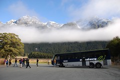 Real Journeys (testpatern) Tags: world park new newzealand bus heritage island site nationalpark coach south unesco zealand southisland te wai milfordsound aotearoa worldheritage mitrepeak fiordland pounamu milfordroad fiordlandnationalpark worldheritagearea realjourneys