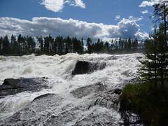 Storforsen!!!! (Christina.Bylund) Tags: himmel panasonic vatten moln storforsen norrbotten vidsel dmctz5