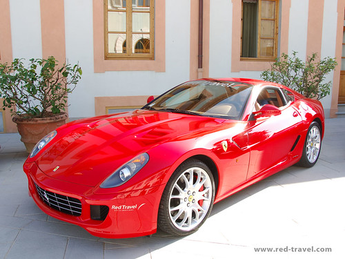 ferrari italy travel red