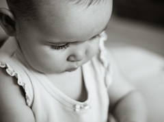 milie (Luc Bernard) Tags: portrait bw baby nb bb milie 50mmf18 40d photoquebec
