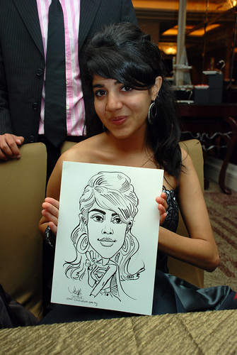 caricature live sketching for wedding dinner 120708  - 65