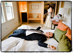 A Much-Needed Rest (Ryan Brenizer) Tags: wedding newyork cute fun bed nikon july noflash rest 2008 d3 garrison weddingphotojournalism thegarrison quiry 2470mmf28g heatherandnoam