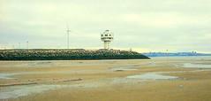 Bleak beach (* RICHARD M) Tags: england beach liverpool waterloo radar crosby newbrighton merseyside windturbines rivermersey