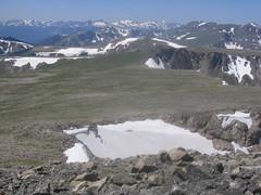 Tyndall Glacier & Flattop (mid right)