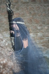 Witchcraft II (R.i.c.a.r.d.o.) Tags: woman motion black history girl dark walking scary movement distorted market witch ghost gothic evil medieval acting bidos medievalmarket