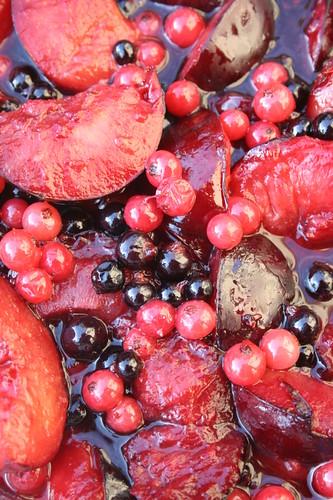 Dessert Fruité dEte - Crisp au Cassis, Prunes et Groseilles et SHF#45 -