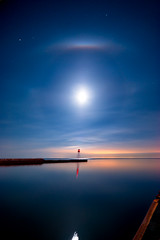 IMGP-4414 (Bob West) Tags: longexposure nightphotography moon ontario night lakeerie greatlakes fullmoon clear nightshots lightroom sigma1020mm erieau southwestontario bobwest k10d eastlighthouseerieau