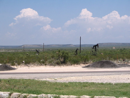 A Texas oil field.