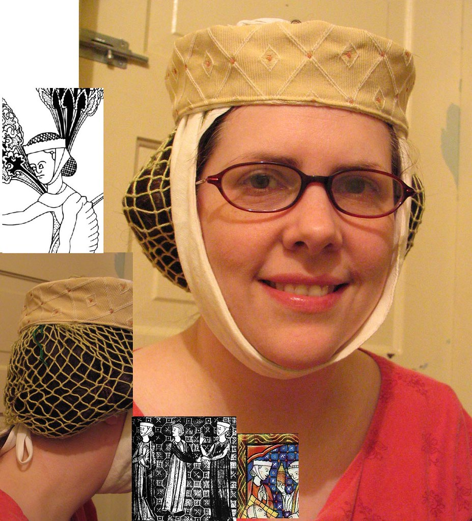 Circa 1275-1300 netted hairnet experiment done