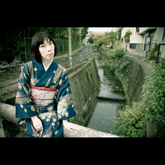 Sagano (Masahiro Makino) Tags: woman japan female photoshop canon eos japanese kyoto adobe  kimono  lightroom f456 efs1785mm 40d 20071114131950canoneos40d21ps25p