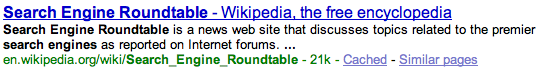 Google Bolding