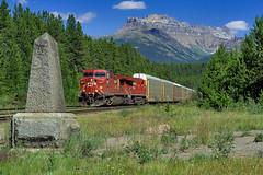 8571 at Stephen (Matthew Hicks Railway Photography) Tags: lake mountains train railway louise banff canadianpacific cp