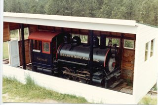 Preserved Branch Mint Railroad 0-4-0T Porter locomotive. Near the Chief Crazy Horse monument project. South Dakota. 1984.