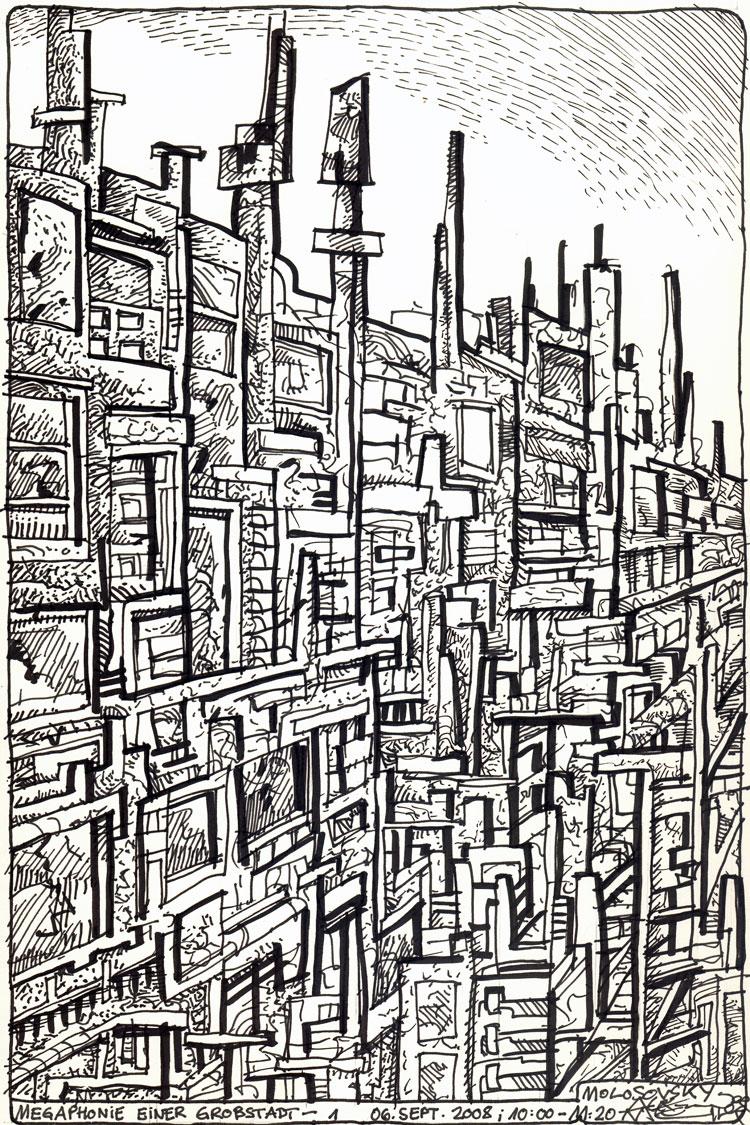 »Megaphonie einer Großstadt« 01