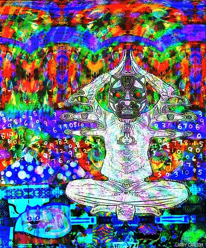 LARRY CARLSON, JAGUAR BIZARRE, digital chromogenic print, 26x22in., 2007.