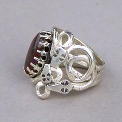 Ring of Chance gift of Tyche (leespicedragon) Tags: original art silver greek god handmade oneofakind ooak magic jewelry boulder ring spiritual magical opal yowah frabracated marvinleebillings 586ct