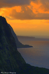Waipio Valley (~Mina~) Tags: sunset orange beauty island hawaii big rocks shades hike adventure valley hi bigisland waipio goldenvisions