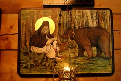 St Seraphim with his bear
