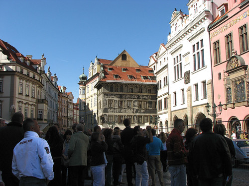 Waiting for the astronomical clock to chime