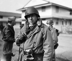 """The War Correspondent - 1943"" (photo_secessionist) Tags: leica people bw 120 6x6 film rolleiflex vintage mediumformat grey blackwhite photographer 1938 retro ww2 hp5 standard barracks ilford greyscale correspondent efke blancetnoir ro"