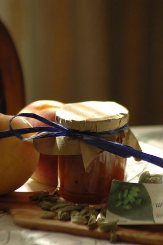 Peaches & cardamom preserve