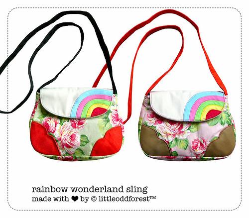 rainbow wonderland sling