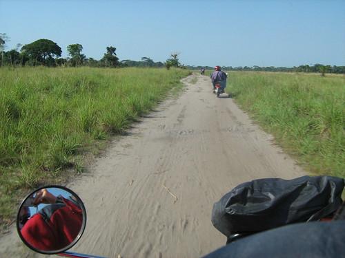 a savanna island southwest of Kindu