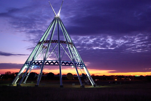 Tallest Teepee at Dawn