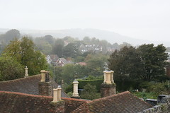 Misty Sussex countryside
