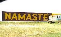 Namaste on the Guyana Sea Wall