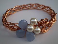 Periwinkle and Pearls Bracelet