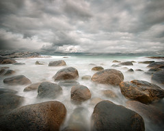 stone beach after the rain (H o g n e) Tags: ocean longexposure sea summer sky cloud seascape motion beach water norway rock stone clouds landscape evening coast landscapes carved solitude waves seascapes wind dusk horizon smooth shoreline wave glacier erosion explore pebble shore silence glaciers pebblebeach geology archipelago jren breakingwaves carvedstone carvedrock smoothwater explored smoothsurface smoothstone brusand bildekritikk smoothrock silkwater