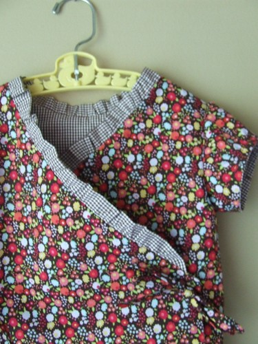 flower/gingham shirt