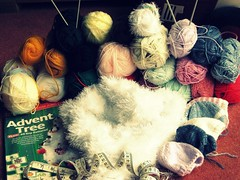 What a lot of projects (sparklingbizzy) Tags: wool knitting hats puzzle wooly hpad adventtree funkyfur 161008