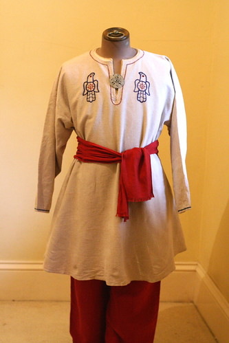 Embroidered Viking Tunic, Under Tunic & Braies