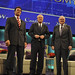 California Governor Arnold Schwarzenegger, Warren Buffett, Chris Matthews
