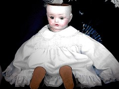 baby broke her head (Richard Cody) Tags: baby doll head her dolly broke behindglass richardcody