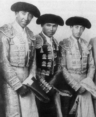 Armillita, Domingo Ortega y Manolete en Acho