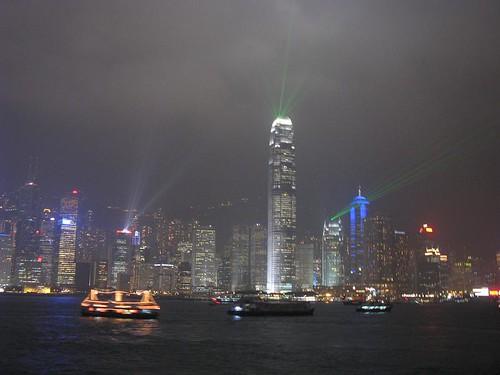 HK Island light show